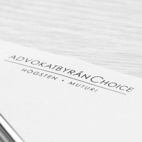 Advokatbyrån Choice brevhuvud